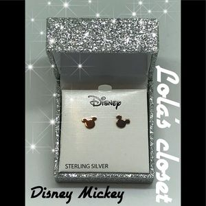 Disney Mickey gold stud earrings